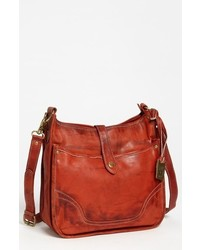 Campus leather crossbody bag brown medium 619015