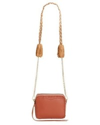 Rebecca Minkoff Chase Leather Camera Crossbody Bag Red