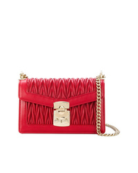 Miu Miu Chevron Pleated Foldover Shoulder Bag
