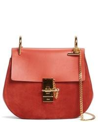 Chloé Chloe Mini Drew Leather Crossbody Bag Green