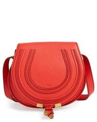 Chloé Chloe Mini Marcie Leather Crossbody Bag Red