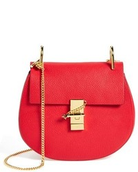 Chloé Chloe Small Drew Leather Shoulder Bag Black