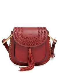 Chloé Chloe Small Hudson Studded Calfskin Leather Crossbody Bag Black