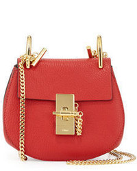 Chloé Chloe Drew Nano Leather Saddle Bag