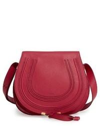 Chloé Chloe Marcie Medium Leather Crossbody Bag White