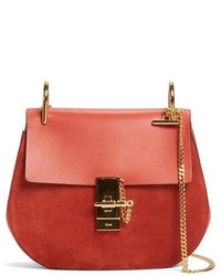 Chloé Chloe Mini Drew Leather Crossbody Bag Blue