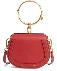 Chloé Chloe Small Nile Bracelet Leather Crossbody Bag Brown