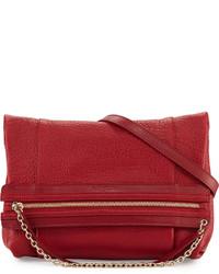Chloé Chloe Zoey Leather Crossbody Bag Cherry Boom