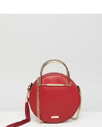 Aldo Circle Crossbody Bag With Gold In Red