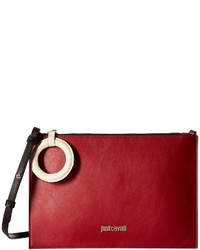 Just Cavalli Color Block Calf Leather Crossbody Cross Body Handbags