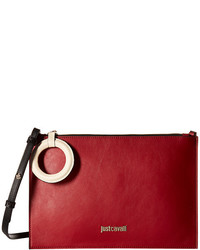 Just Cavalli Color Block Calf Leather Crossbody