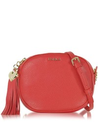 Furla Cuore L Hammered Leather Crossbody Bag