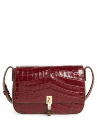 Elizabeth and James Cynnie Flap Croc Embossed Crossbody Bag Red