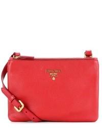Prada Daino Small Leather Cross Body Bag