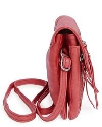 Day Mood Hazel Leather Crossbody Bag Red