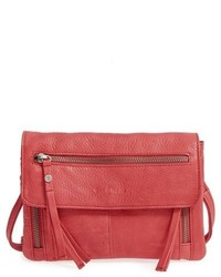 Day mood hazel leather crossbody bag red medium 1101829