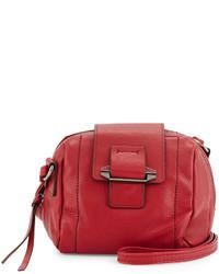 Kooba Dina Leather Crossbody Bag Red Russian