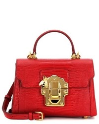 Dolce & Gabbana Lucia Mini Leather Crossbody Bag