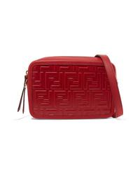 Fendi Embossed Leather Camera Bag