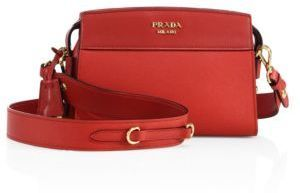 Prada Esplanade Leather Crossbody Bag