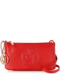 Armani Jeans Faux Leather Mini Crossbody Bag