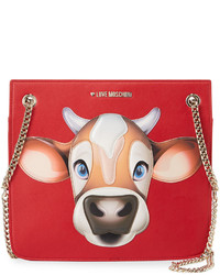 Love Moschino Faux Leather Thin Shoulder Bag Red