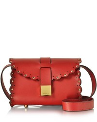 Furla Amazzone Leather Crossbody Wleather Strap