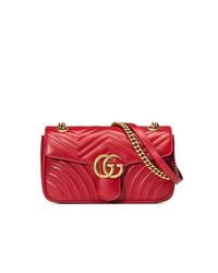 Gucci Gg Marmont Small Matelass Shoulder Bag