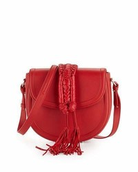 Altuzarra Ghianda Saddle Knot Small Leather Bag Red
