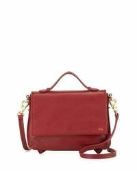Foley + Corinna Gigi Leather Flap Crossbody Bag Rouge