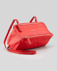 Givenchy Pandora Sugar Leather Crossbody Bag Red