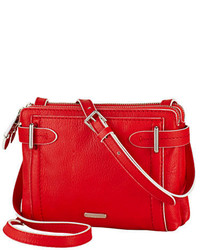 Lauren Ralph Lauren Gladstone Leather Double Zip Crossbody Bag