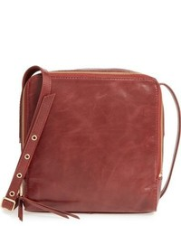 Hobo Small Lyra Leather Crossbody Bag Brown