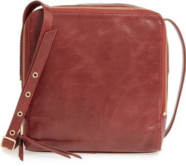 Hobo Small Lyra Leather Crossbody Bag Brown