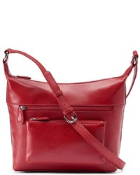Ili Leather Front Pocket Crossbody Bag