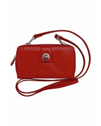 Ili World Red Leather Crossbody