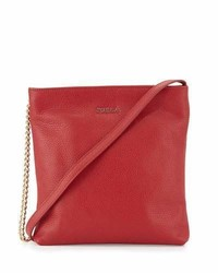 Furla Julia Small Leather Crossbody Bag Cabernet