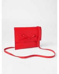 Gap Leather Bow Crossbody