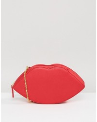 Lulu Guinness Leather Lips Cross Body Bag