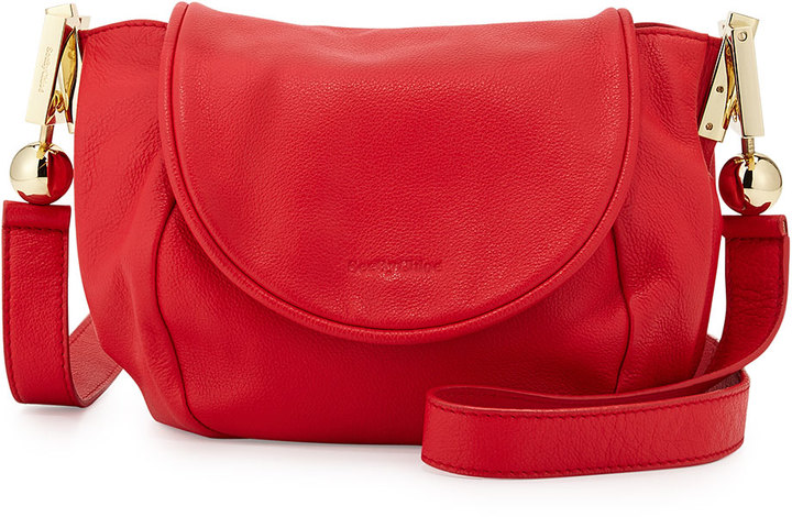 See By Chloe Lena Vachetta Leather Crossbody Bag Flamboyant Red