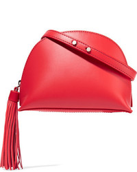 Loeffler Randall Tasseled Leather Shoulder Bag Papaya