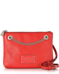 Marc by Marc Jacobs New Too Hot To Handle Cambridge Red Leather Doubledecker Crossbody