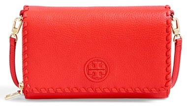 8b08bfb2568 ... Red Leather Crossbody Bags Tory Burch Marion Wallet Crossbody ...