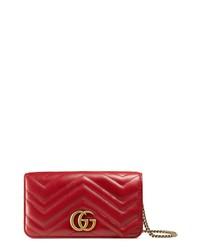 Gucci Marmont 20 Leather Shoulder Bag