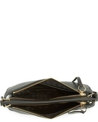 Louise et Cie Medium Elay Leather Crossbody Bag Black