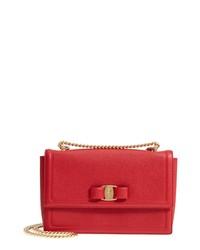 Salvatore Ferragamo Medium Ginny Ed Leather Bow Shoulder Bag 54334b1fad34c