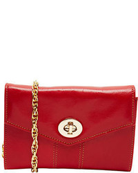 Tusk Medium Leather Crossbody Clutch