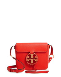 Tory Burch Miller Metal Logo Leather Flap Crossbody Bag