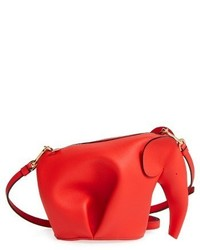Loewe Mini Elephant Crossbody Bag Black