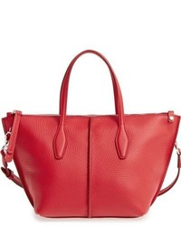 Tod's Mini Joy Leather Crossbody Bag Red
